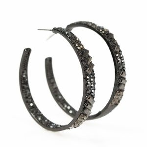 💍 5 for $25 sale! 💍 Black Hoop Earrings
